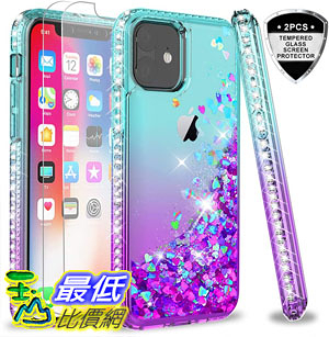 [9美國直購] 手機殼 B07VMMCHVG LeYi iPhone 11 Case Glass Screen Glitter Phone Case for Apple iPhone 11