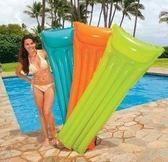 美國INTEX59703 夏日玩水 成人水上浮排床沙灘休閒躺椅熒光伐輕巧型日光浴浮排183