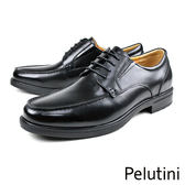 【Pelutini】經典真皮厚底紳士鞋 黑色(6505-BL)