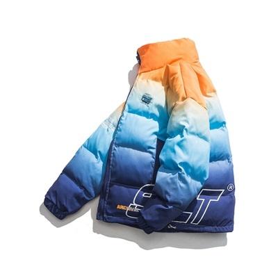 舖棉外套-立領漸層寬鬆時尚情侶服男女夾克73zj22【巴黎精品】
