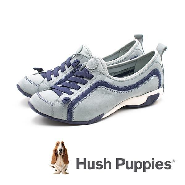 【南紡購物中心】Hush Puppies QUALIFY 彈力休閒鞋 女鞋 -水藍(另有黑、粉紫、灰藍)