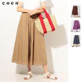 出清 寬褲 印度棉 碎摺 荷葉褲 免運費 日本品牌【coen】