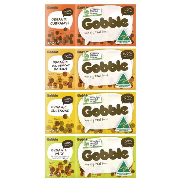 澳洲 gobble 有機葡萄乾(4款可選)Murray River Organics(6小盒入)