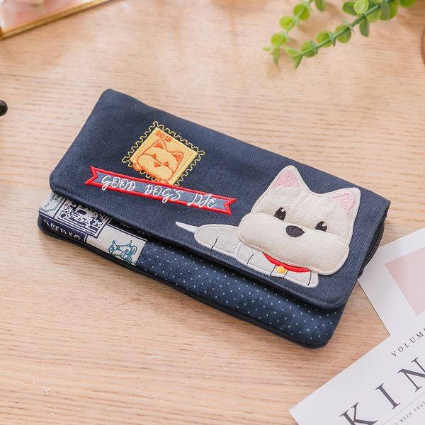 Kiro貓‧高地白梗 狗狗 多卡層 鈔票收納 錢包/長布夾【222795】