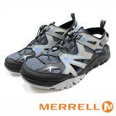 【MERRELL促銷7折】MERRELL CAPRA RAPID SIEVE 防潑水 水陸兩棲涼拖鞋 灰藍  男  ML37681