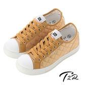 【韓國T2R】7cm-UP 菱格氣墊隱形增高鞋 耀眼金(5600-0150)