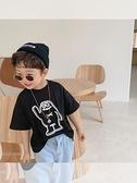 童裝2021夏季新款男童韓版卡通T恤兒童印花上衣半袖寶寶洋氣短袖 幸福第一站
