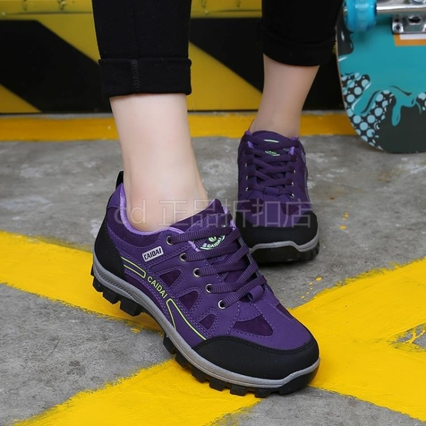 登山鞋 CAIDAI登山鞋防滑徒步鞋女戶外運動鞋耐磨爬山輕便防水旅遊鞋 koko時裝店