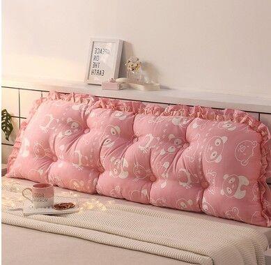 床靠枕 帛妮詩全棉正韓床上沙發大靠墊棉質雙人長靠枕抱枕韓式床頭大靠背