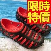 男女洞洞鞋(單雙)-嚴選新款有型防水休閒鞋7色55w35【巴黎精品】