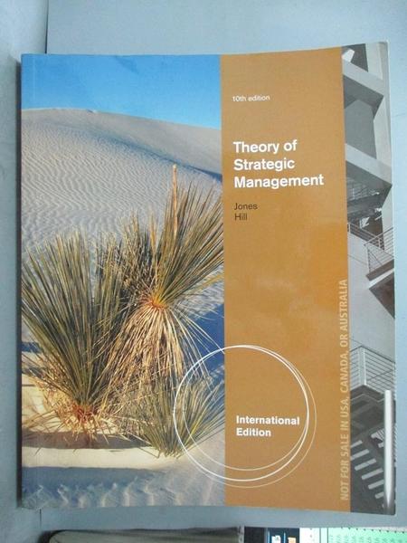 【書寶二手書T1/大學商學_PME】Theory of Strategic Management 10/E_Charles