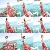 沙灘裙女夏2018新款泰國海邊度假連身裙性感