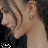耳環 RCha。貝殼碎片不規則圓圈耳環-Ruby s 露比午茶