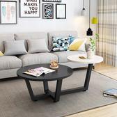 北歐茶几圓形創意迷你簡約現代小戶型簡易鋼化玻璃客廳茶几小桌子