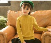 女童打底衫   半高領女童毛衣兒童裝中大童針織衫打底衫韓版上衣   瑪麗蘇