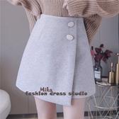 依米迦 短裙 加厚冬季新款時尚毛呢短裙百搭顯瘦A字裙短裙