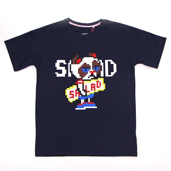 Salad深藍色樂高拼圖短袖T恤