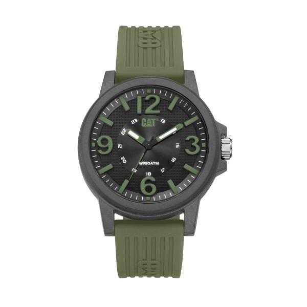 【CAT Watch】GROOVY特殊多層次面盤設計時尚橡膠腕錶-軍綠款/LF.111.23.133/台灣總代理公司貨享兩年保固