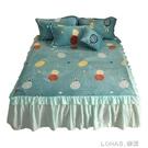 南極人珊瑚絨床裙單件牛奶絨床罩床裙式冬季加厚水晶絨床裙三件套 樂活生活館