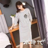 睡衣 女夏學生卡通長款可愛少女薄款外穿寬鬆睡裙