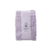 HOLA 葡萄牙純棉方巾 流蘇紫 33x33cm