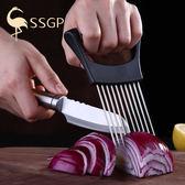 鬆肉器304不銹鋼切檸檬洋蔥切片器切菜護手器鬆肉針敲肉錘扣肉針豬皮插 全館八折柜惠