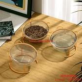寵物貓碗雙碗保護頸椎陶瓷狗碗貓盆貓咪喝水碗高腳防打翻用品【時尚好家風】