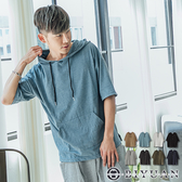 【OBIYUAN】MIT 寬鬆 短袖帽T 開衩連帽 短袖T恤 上衣共8色【SP1739】