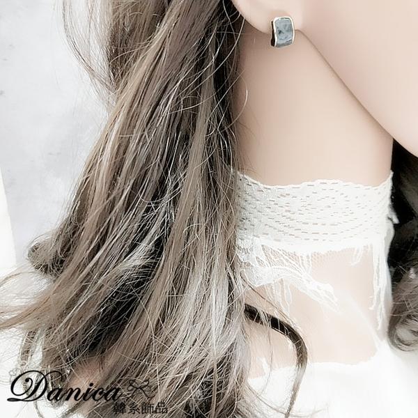 現貨 韓國氣質簡約百搭法式仿古幾何弧形925銀針耳環 夾式耳環 S93831 批發價 Danica 韓系飾品