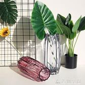 歐式大號彩色玻璃花瓶富貴竹透明插花花器客廳 造物空間