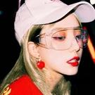 男女同款抖音凹造型拍照眼鏡防飛沫沙塵騎車防風防塵鏡透明護目鏡 星河光年