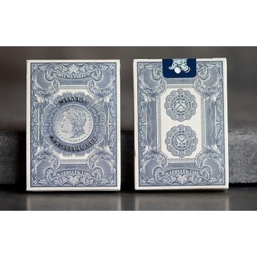 【USPCC 撲克】unbranded SILVER CERTIFICATE S2 美鈔撲克牌