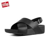 當季熱銷款【FitFlop】LULU LEATHER BACK-STRAP SANDALS 經典可調整式後帶涼鞋-女(黑色)