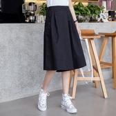 棉麻褲褲裙女夏季高腰時尚顯瘦韓版寬鬆七分褲白色休閒褲闊腿褲新年禮物 韓國時尚週
