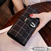 2021新款錢包女長款磨砂日韓大容量多功能三折女式錢夾皮夾手拿包 交換禮物