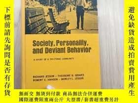 二手書博民逛書店SOCIETY,罕見PERSONALITY AND DEVIANT BEHAVIOR 社會,人格與越軌行為Y1