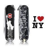 VICTORINOX 瑞士維氏限量迷你7用印花瑞士刀-紐約