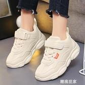 2020兒童秋冬小熊鞋加絨男童運動鞋寶寶女童棉鞋休閒小學生跑步鞋『潮流世家』
