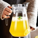 茶壺 冷水壺玻璃涼水壺瓶大容量泡茶茶壺家用耐高溫涼白開水杯鴨嘴扎壺【快速出貨八折下殺】
