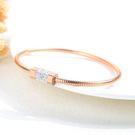 【5折超值價】時尚精美創意瓷釦鑲鑽造型女款鈦鋼手環