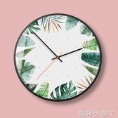 掛鐘北歐鐘錶客廳個性創意時尚家用靜音現代簡約新款大氣時鐘掛錶 igo蘿莉小腳ㄚ