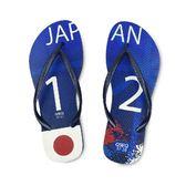 QWQ創意鞋-  世界盃足球紀念鞋 日本 細帶女款天然橡膠人字拖