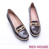 RED HOUSE-蕾赫斯-精緻真皮莫卡辛楔型鞋