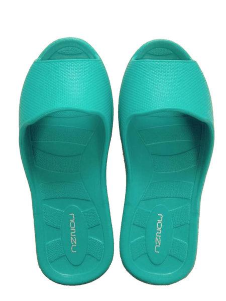 〝任選3雙只要499元〞MONZU滿足曲線輕量兒童室內拖鞋(綠20)