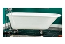 【麗室衛浴】BATHTUB WORLD 高級獨立式鑄鐵浴缸 137.9長*77寬*45高CM(不含腳的高度)