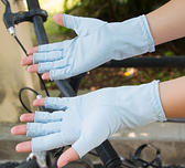 冰袖防曬手套男女防紫外線戶外釣魚開車騎行冰絲速干半指手套025-享家