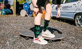 男士襪子 5雙裝楓葉襪子男女麻葉長襪男潮流街頭中筒韓版歐美學院風嘻哈ins  花間公主