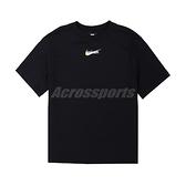 Nike 短袖T NSW Taiwan SS Tee 女款 黑金 台灣限定 燙金 寬版【ACS】 DM3557-010