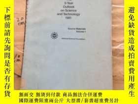 二手書博民逛書店THE罕見5-YEAR OUTLOOK ON SCIENCE AND TECHNOLOGY 1981.VOLUME