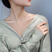 銀致S925銀項鏈女韓版簡約學生創意潮人鎖骨鏈脖子飾品衣服配飾『新佰數位屋』